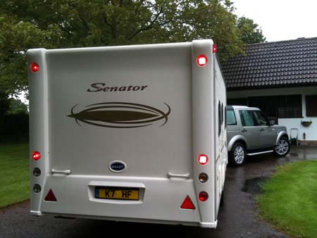 Reversing cameras for caravans