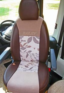 Comfortable cab seats inside the Bailey Approach Autograph