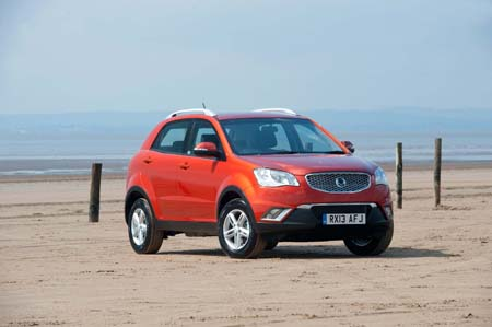 SsangYong Korando towing vehicle exterior