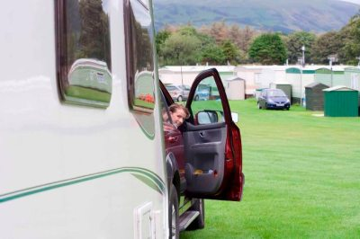 caravan reversing