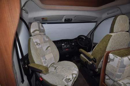 2014 Auto-Sleeper Broadway EK motorhome driver's cab