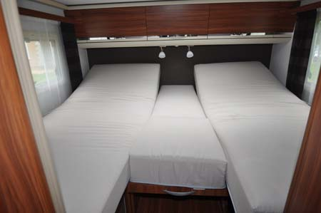 Adria Coral 670SL Motorhome Bedroom