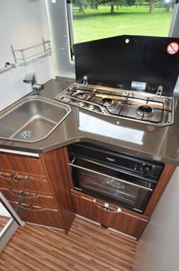 Adria Coral 670SL Motorhome Kitchen