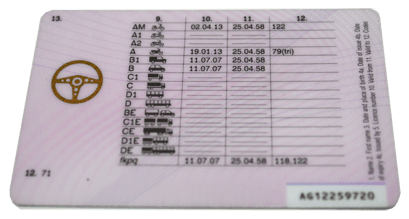 Post 1997 Drivers Licence