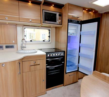 Bailey Unicorn large fridge single axle