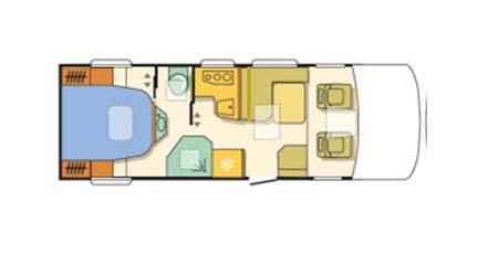 Adria Sonic Plus Floor plan