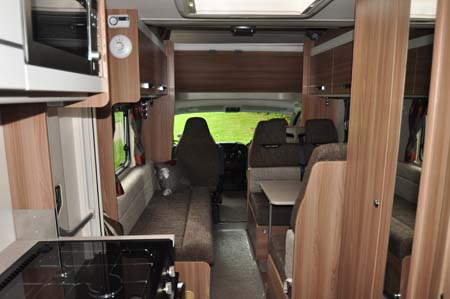 Swift Escape 696 interior looking forward
