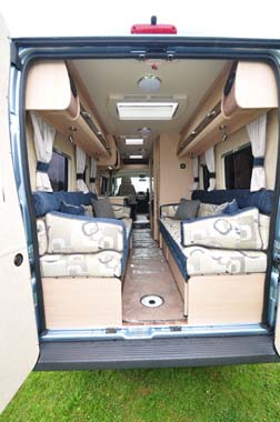 Auto Sleeper Warwick XL Interior from rear