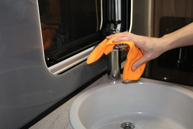 cleaning caravan tap