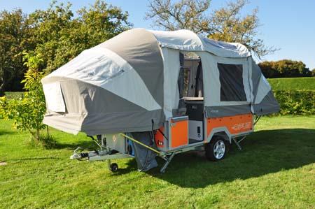 Opus Trailer Tent Erected