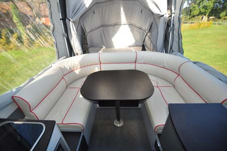 Opus Trailer Tent Lounge seating