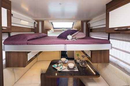 Auto Roller 707 bunk bed and dining area