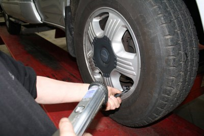checking motorhome tyre pressure - tyre safety