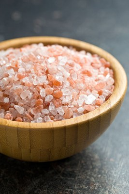 Salt crystals to soak up damp