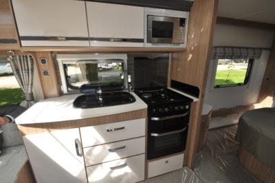 Coachman Laser 675 kitchen
