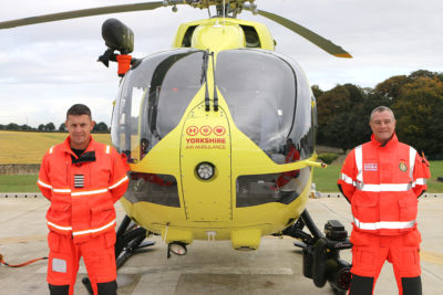 Yorkshire air ambulance pilot and paramedic