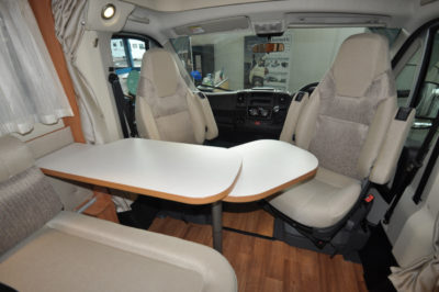 Hymer Van 374 seating