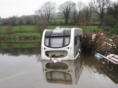caravan flooded