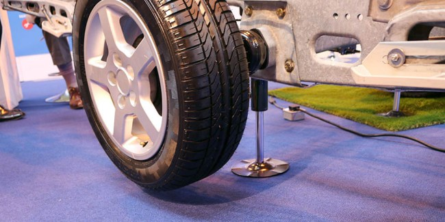 Levelling the caravan with E&P Levelsystem