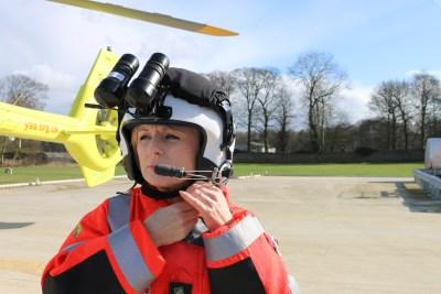 new night vision helmet for Yorkshire Air Ambulance