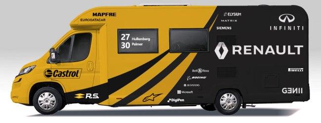 Formula one motorhome wrap