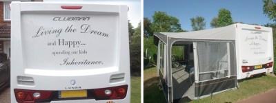 Caravan vinyl writing