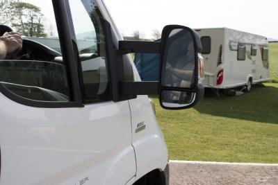 Motorhome-rear view mirror
