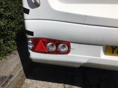 caravan reversing damage