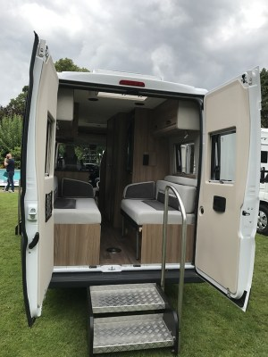 Swift Select 122 Motorhome rear interior