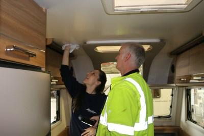 Bailey caravan construction checks and clean
