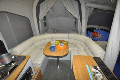 Opus Air Folding Camper lounge