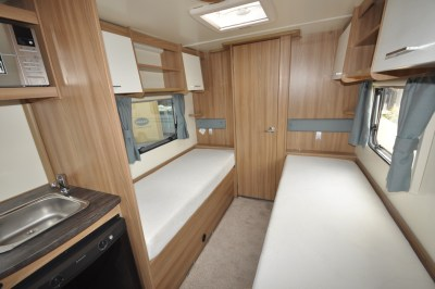Bailey Pursuit 550 4 caravan interior looking back to lounge