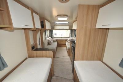 Bailey Pursuit 550 4 caravan interior looking forward