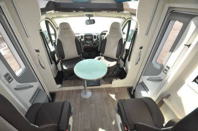 Chausson TravelLine 711 Motorhome Front Interior seatin