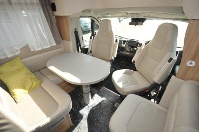 Knaus Sun Ti 700 MEG motorhome lounge dining seating