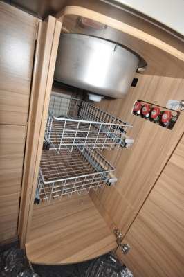 Knaus Sun Ti 700 MEG motorhome undersink storage