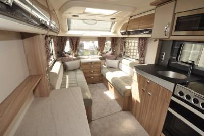 Swift Conqueror 480 caravan interior looking forwards