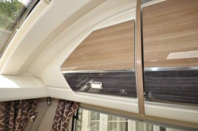 Swift Conqueror 480 caravan overhead storage