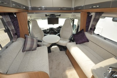 AutoTrail Tracker LB Motorhome Interior looking forwards