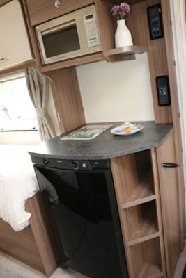 Bailey Phoenix 642 fridge and microwave