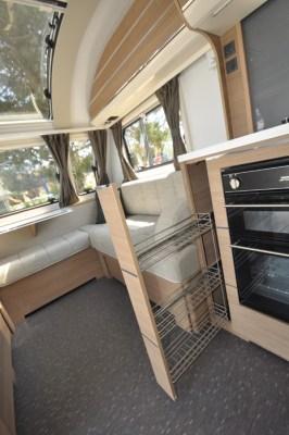 2019 Adria Adora 623 DT Sava caravan kitchen storage 1