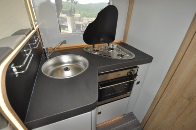 Roller Team Pegaso 590 motorhome kitchen