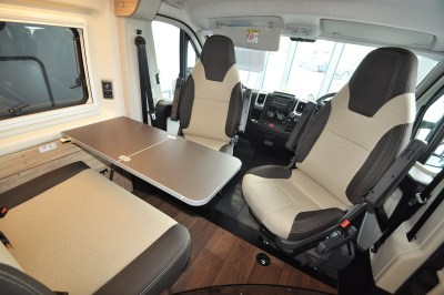 2019 HymerCar Ayers Rock Crossover campervan dinette