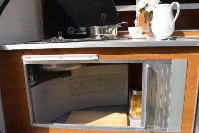 Carette 1500 caravan undersink cupboard
