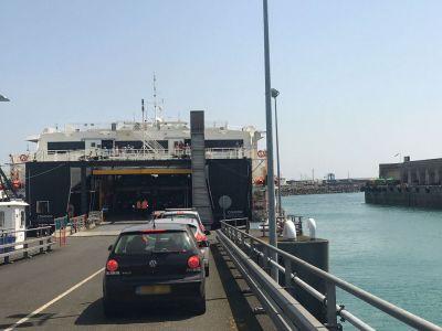 Caravan boarding ferry
