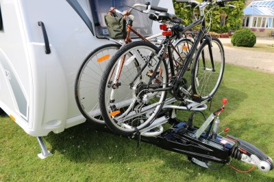 2020 Bailey Discovery caravan bike rack