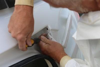 Removing handles on caravan