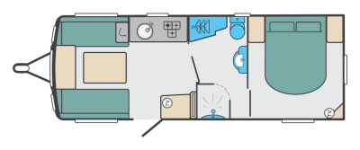 2020 Swift Sprite Super Quattro EB caravan floorplan
