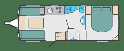 2020 Swift Sprite Super Quattro EB caravan floorplan