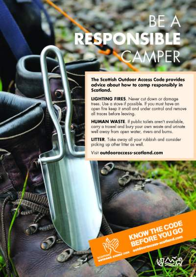 Scottish Outdoor Access code Trowel Poster